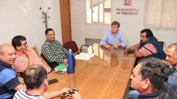 Los taxistas y el intendente Tortoriello desactivaron un posible conflicto.