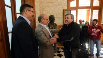 El Gobierno recibió ayer a referentes de ATE, encabezados por Aguiar.