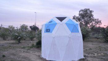 Al magnetómetro se le construyó hace unos días un domo para protegerlo de la intemperie y cuidar más sus registros.