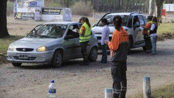 En la Isla Jordán los controles de tránsito se multiplicaron.