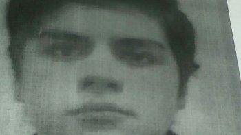 Braian Gallegos Muñoz desapareció de su casa el viernes a la noche.