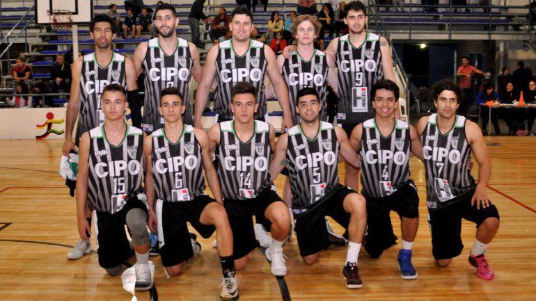 La formación de Cipo que pondrá primera en el Torneo Federal de básquet ante Cinco Saltos en el Estadio Municipal.