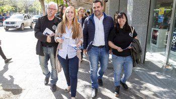 María Emilia Soria salió a buscar votos por Cipolletti