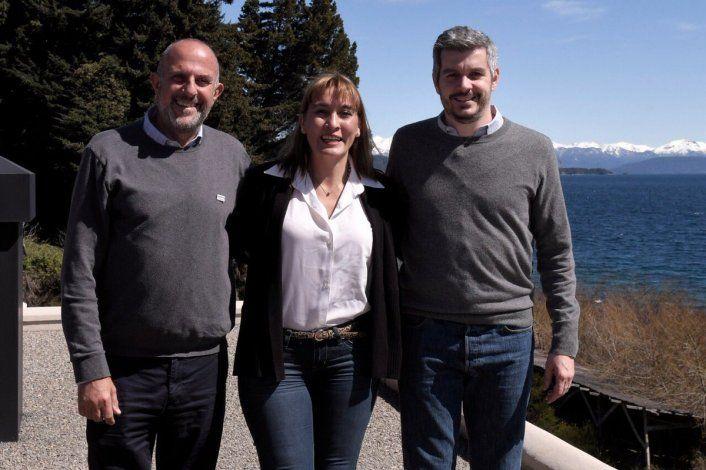 Marcos Peña se reunió en Bariloche con Lorena Matzen y Sergio Capozzi.
