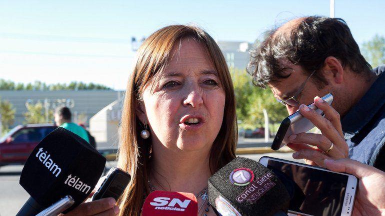 La candidata a diputada cuestionó la situación de Catriel.