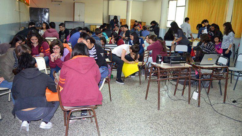 Alrededor de 200 chicos participaron del taller municipal.