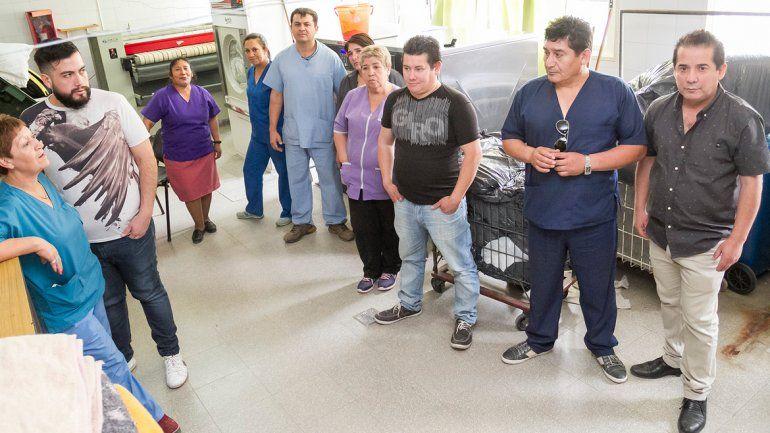 Las medidas de fuerza en la enfermería del hospital duraron poco.