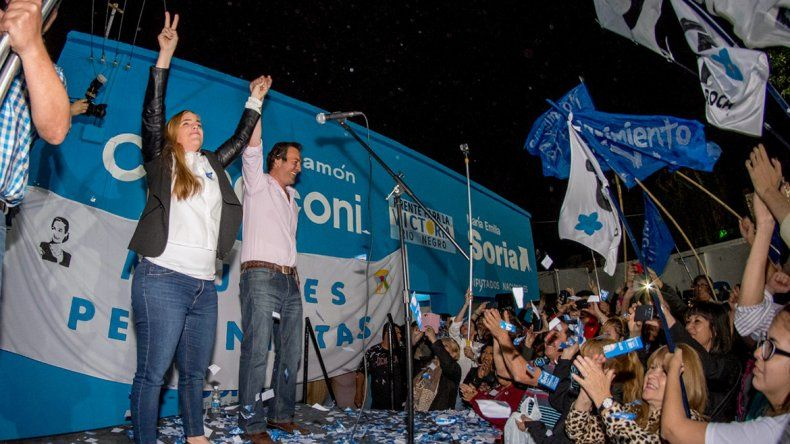 María Emilia Soria festejó la victoria en un acto que compartió junto a su hermano