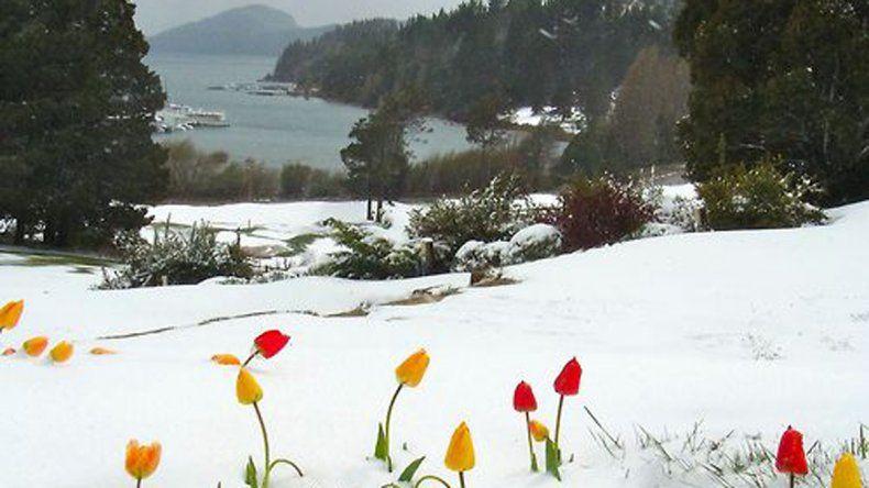Sorpresa en la cordillera por una nevada en plena primavera