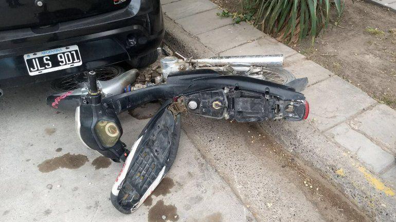 El motochorro fue detenido en la esquina de Mengelle y Jujuy.