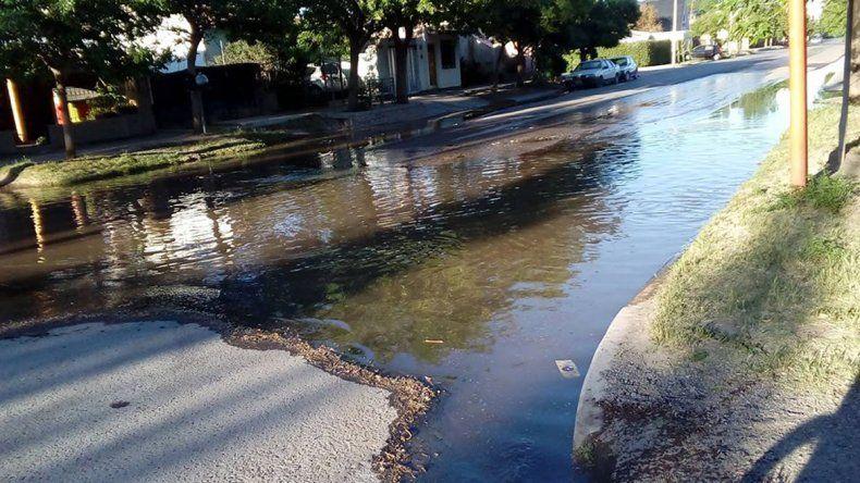El Piedrabuena amaneció bajo el agua