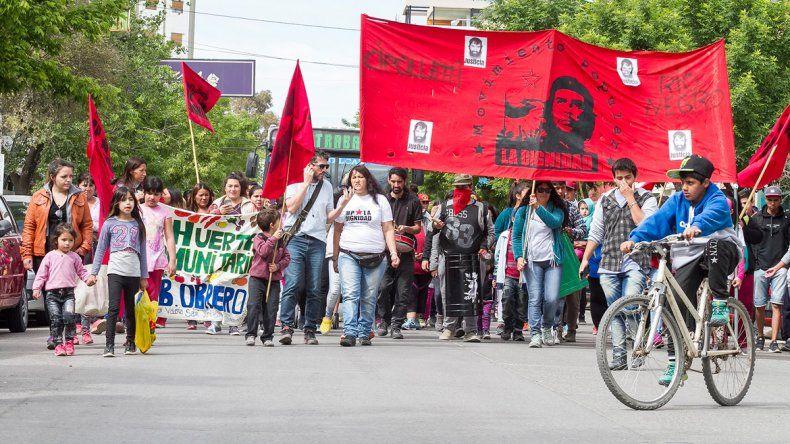 El MPLD concretó la semana pasada una movilización a la comuna.