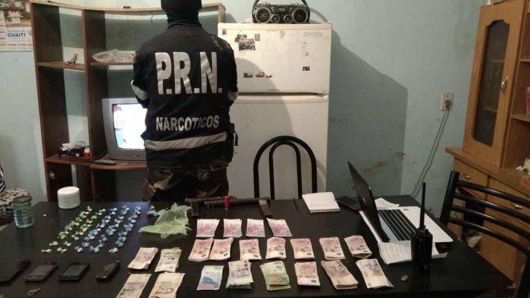 La droga secuestrada por el área de Narcóticos de Cipolletti estaba lista para la venta en prolijos envoltorios.