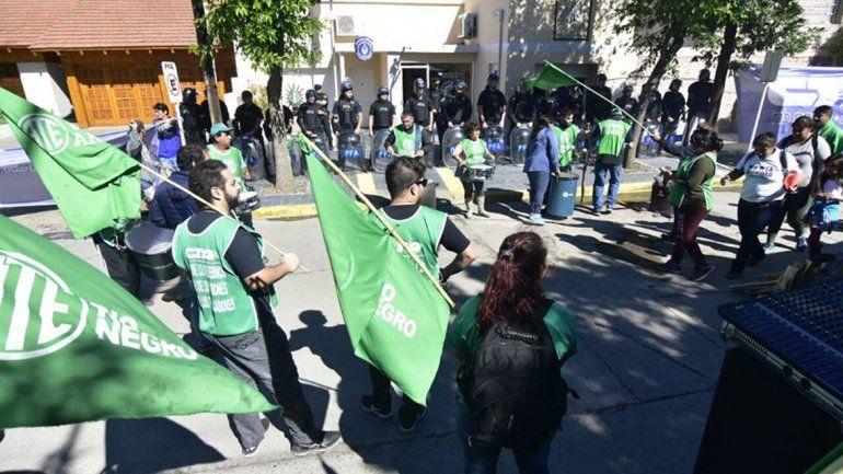 ATE se movilizó a la sede regional de la Policía Federal