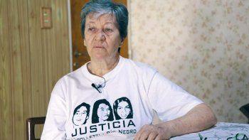 Ofelia Villar, madre de verónica, una de las víctimas del primer triple crimen de Cipolletti.