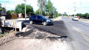 Las calles Lamarque y Río Negro ya están pavimentadas en el Anai Mapu.