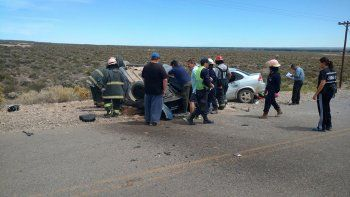 El trágico choque en el que murieron tres personas ocurrió en la Ruta Provincial 70, camino al lago Pellegrini.
