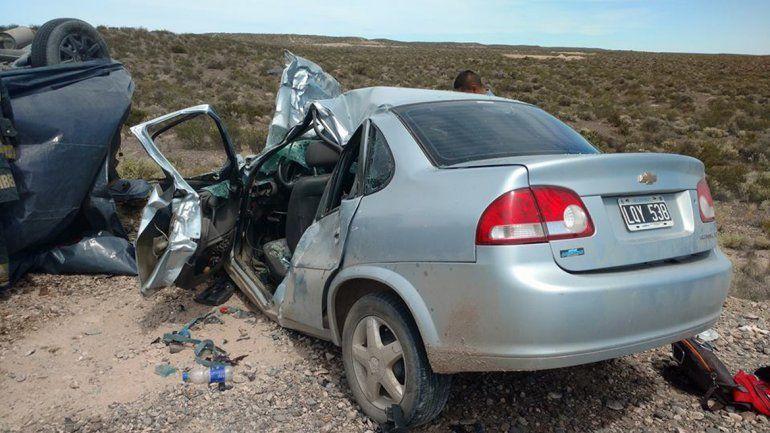 El trágico choque en el que murieron tres personas ocurrió en la Ruta Provincial 70