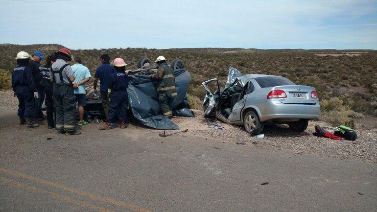 El trágico choque ocurrió el domingo a las 11 en la Ruta Provincial 70.