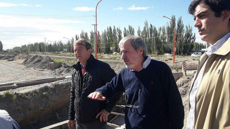 Tortoriello recorrió las obras junto a los secretarios de Obras Públicas