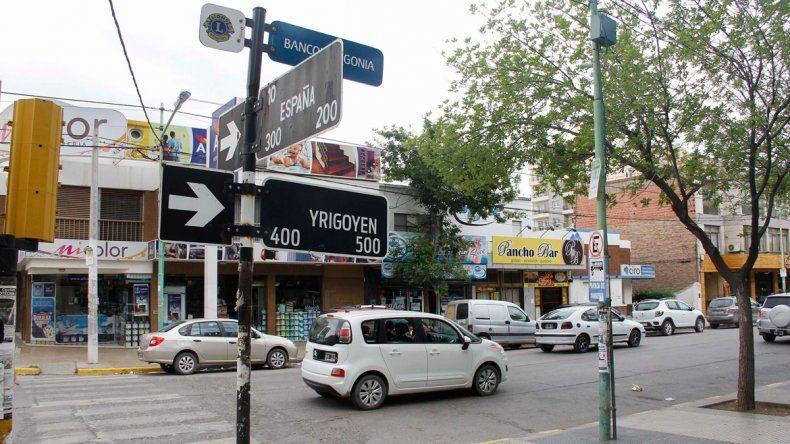 El incidente vial ocurrió en la esquina de Yrigoyen y España