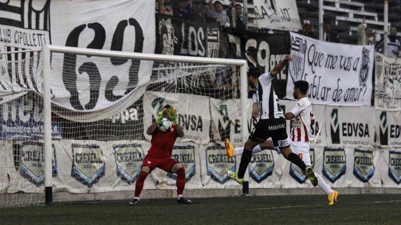 Cipolletti le ganó 1-0 a Independiente