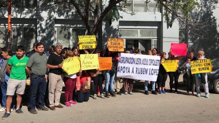 Comenzó el juicio a Rubén López con una marcha de apoyo