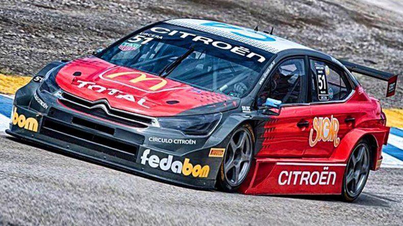 El Citroën de Urcera lleva el 51.