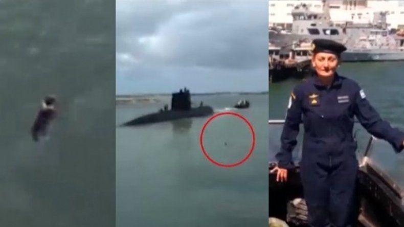 El perro de la tripulante del ARA San Juan que se tiró al agua para despedirla