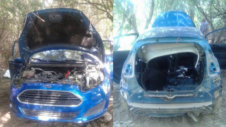 Le robaron el auto cuando salía de su casa y lo encontraron desmantelado en una toma