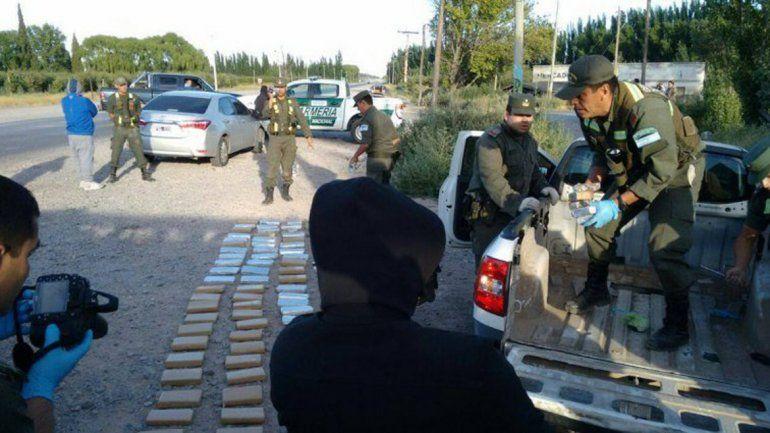 El procedimiento lo concretó Gendarmería en la Ruta Nacional 22.