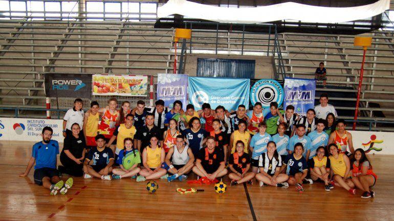 Los protagonistas del torneo Nacional en el Estadio Municipal.