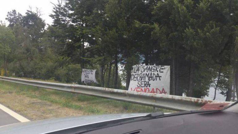 Banderas mapuches a la vera de la Ruta 40