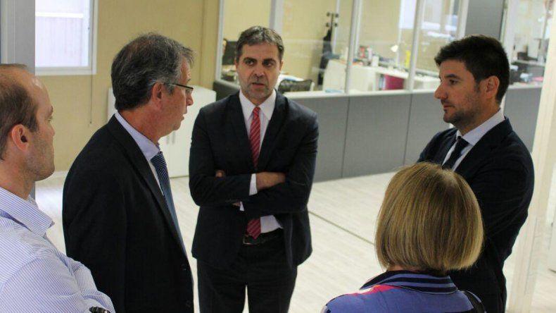 Apcarián recibió a Crespo en la sede judicial de Viedma.