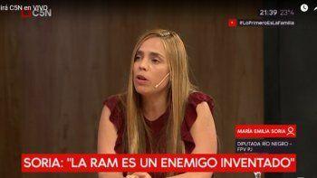 Soria negó la existencia de la RAM en la provincia