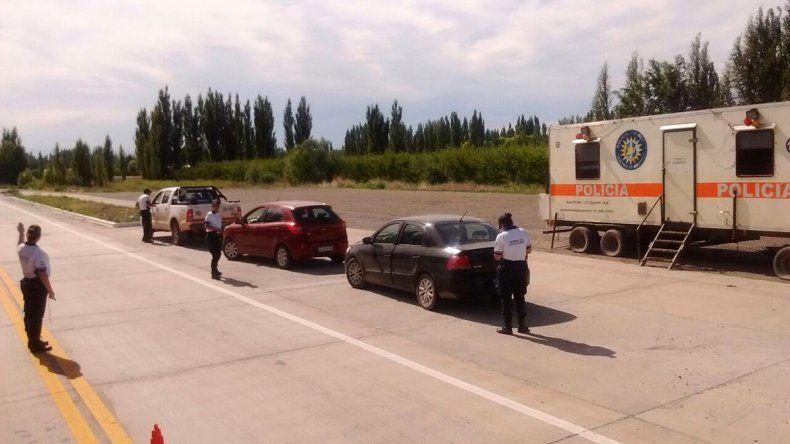 La Policía cipoleña instaló un puesto de control permanente en el tercer puente