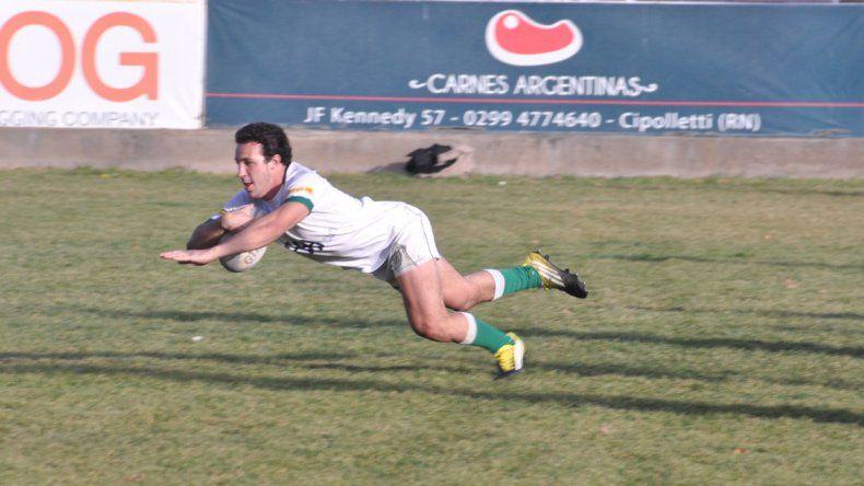 Facu Nogueira fue una de las figuras del equipo que logró el ascenso en la Unión de rugby de Cuyo.