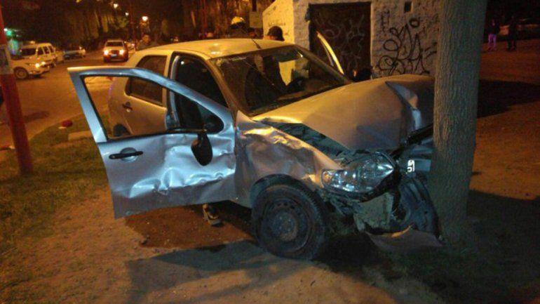 El conductor del Fiat Palio