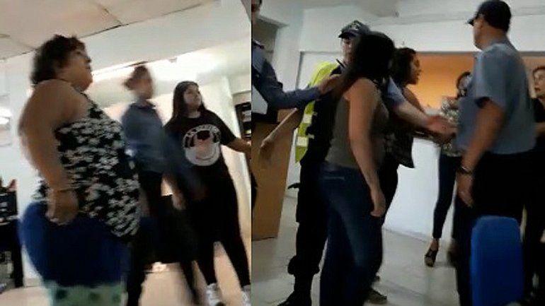 Se conoció el video de la violenta agresión de una afiliada en las oficinas del Ipross