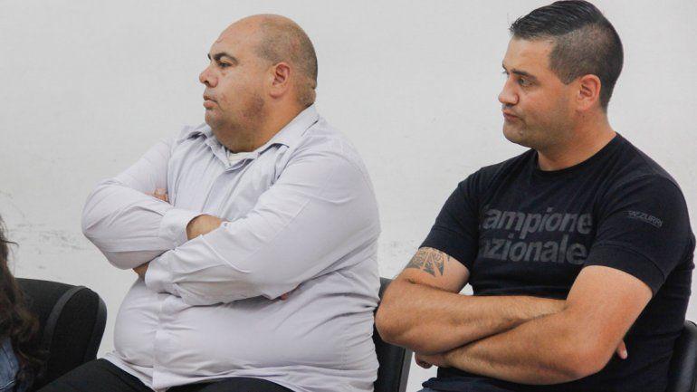 Los policías Mario Leiton (de camisa) y Matías Gutiérrez (de remera) fueron declarados culpables.