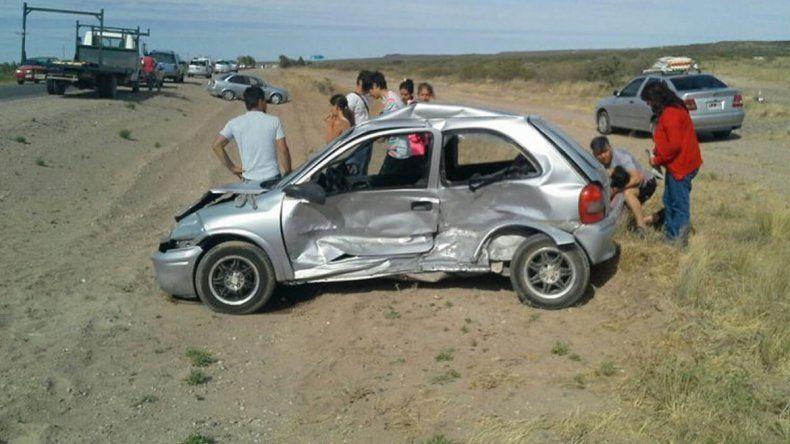 El accidente se produjo a pocos kilómetros del ingreso a Las Grutas.