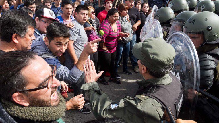 Algunos de los momentos más tensos del año se vivieron entre los gremios y la Gendarmería Nacional