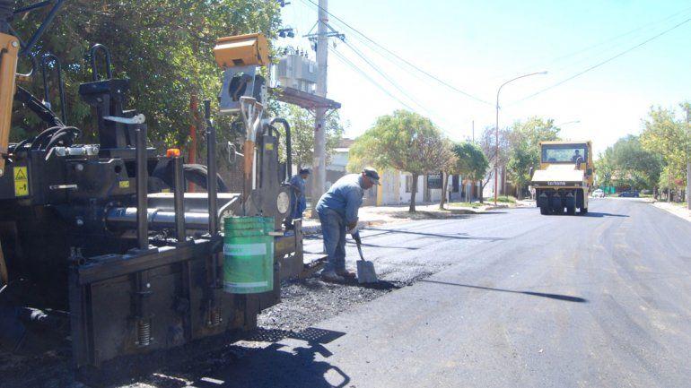 El Municipio avanza con el plan director de asfalto.