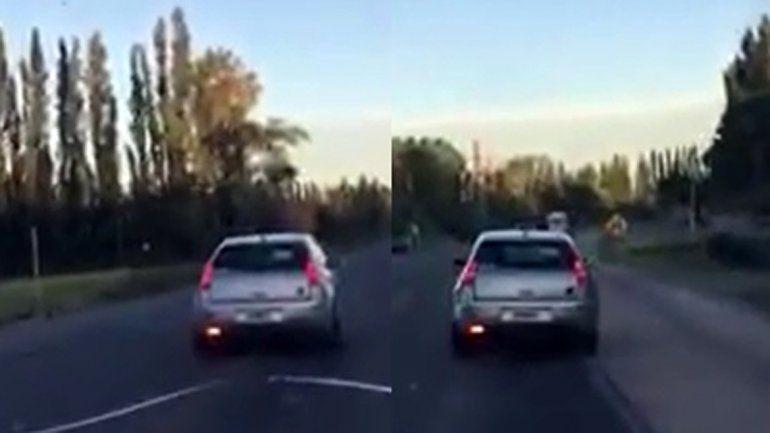 ¿Borracho o imprudente? Manejaba en zigzag por la Ruta 151 y casi provoca una tragedia