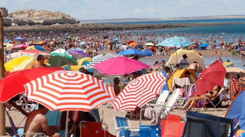 Las playas rionegrinas lucieron colmadas en el inicio del 2018.