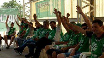 Los empleados del Senasa votaron ayer el inicio del plan de lucha.
