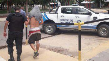 El delincuente atrapado ayer en Sargento Vidal tiene varios antecedentes.