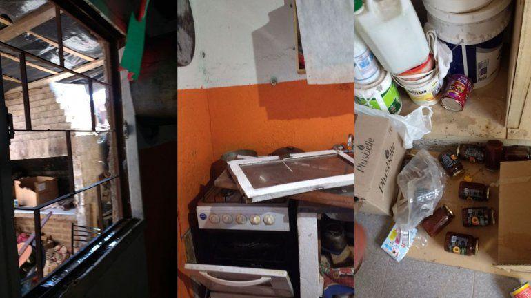 Mensaje mafioso: robaron y destrozaron la casita de Red Puentes en el barrio Anai Mapu