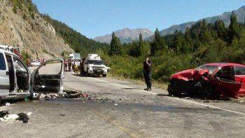 Un muerto tras un impresionante choque frontal sobre la Ruta 40