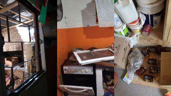 Los delincuentes, además de robar todo lo que había, provocaron destrozos en el interior del lugar.